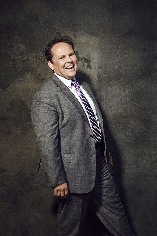 "Kevin Chapman (Det. Lionel Fusco) promoting ""Person of Interest""."