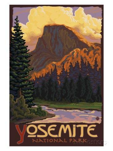 Half Dome, Yosemite National Park, California Reproduction d'art