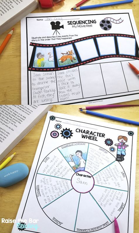 60 Graphic Organizers for Reading Fiction and Literature! Perfect for fiction reading comprehension grades 1-6. Common Core aligned. Some of the topics include setting, sequencing, character traits, compare and contrast, dialogue, and many more!