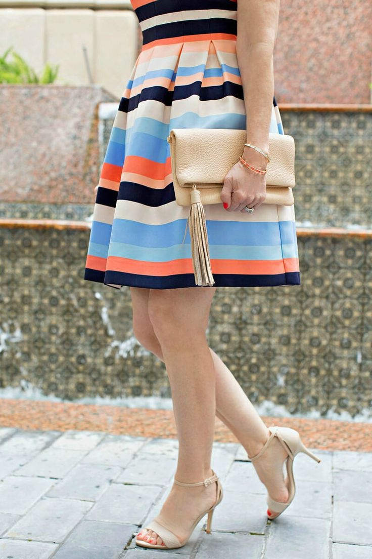 Perky Striped Party Dress