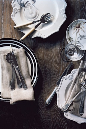 Country Style table setting ideas. Photography Sharyn Cairns, styling Glen Proebstel.