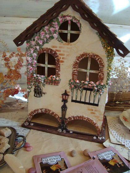 """""""Мой дом, мой милый домик..."""" домик для чайных пакетиков"""