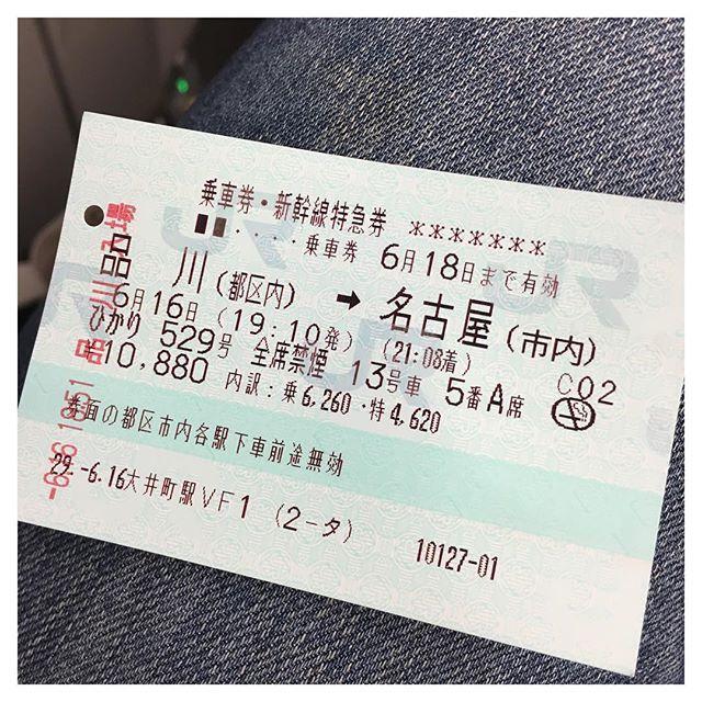 名古屋に帰るー! やっと娘に会える😻 7月にも帰りたい!けどお金ない(´;ω;`) #tokyo #nagoya #photo #新幹線 #愛猫 #会いたい #愛おしい #愛しいだよ #金曜日 #新幹線混みすぎ #ひかりに乗る羽目に