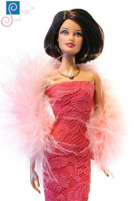 Barbie clothes boa:  Tuskano by Pinkscroll on Etsy