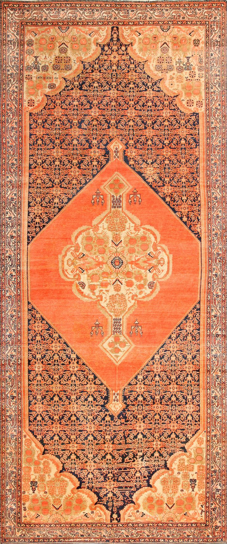 star david antique persian malayer rug