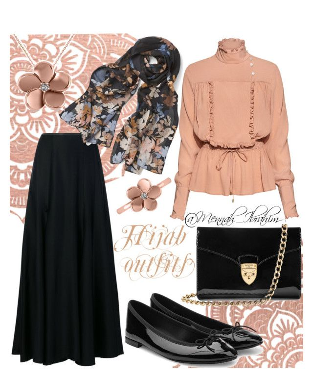 #Hijab_outfits #modesty #Casual #feminine by mennah-ibrahim on Polyvore featuring polyvore fashion style Stella Jean Khaite Repetto Aspinal of London Allurez White House Black Market clothing