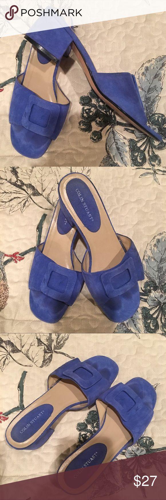 Colin Stuart Slides Mule Shoes 7.5 Very on trend adorable blue Colin Stuart mule shoes. These sandal slides are adorable. Size 7.5. Colin Stuart Shoes Sandals
