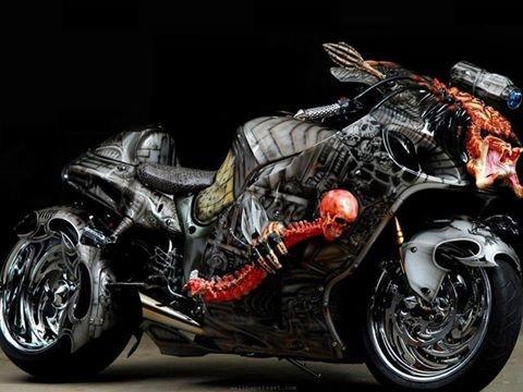 Gentil Super Street Bike  Love The Art Work! The Predator Busa