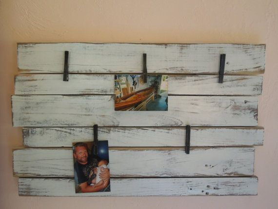 For displaying Prinstagram photos - Clothes Pin Wood Frame by GreenLifeUSA on Etsy, $55.00