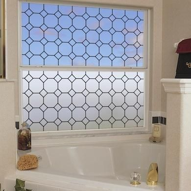 """Tudor Leaded Glass Enjoy the timeless elegance and historic style of the Tudor Leaded Glass window film. The see-through version features a leading line grid on a clear film. The privacy version combines a light frost with the leading grid to obscure visibility. Either way, take pleasure in both the beauty of the design and the UV protection it affords. Priced from $19.95 (8""""x86"""") to $79.95 (48""""x86)."""