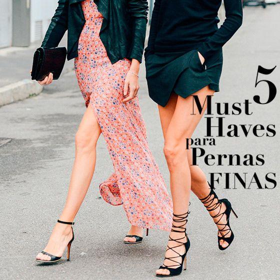 5 looks para pernas finas