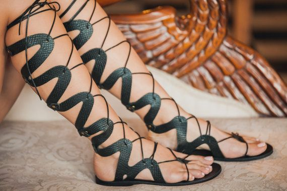 Medusa Gladiator Sandal Leather Gladiator by TheMerakiCompany
