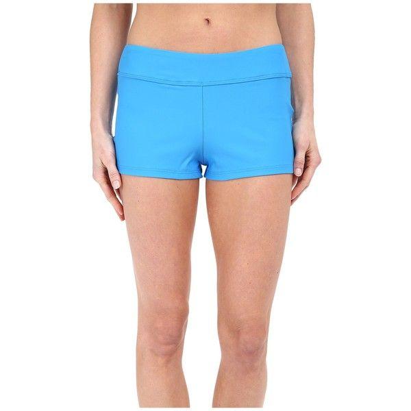 Next by Athena Good Karma Jump Start Swim Shorts Women's Swimwear ($58) ❤ liked on Polyvore featuring swimwear, bikinis, bikini tops, sports bikini top, swim trunks, swim swimwear, sport bikini top and short bikini
