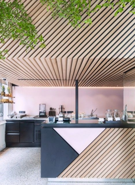 The Cold Pressed Juicery In Amsterdam Designed By Standard Studio Houses A Living Tree JuiceShop Interior DesignCommercial