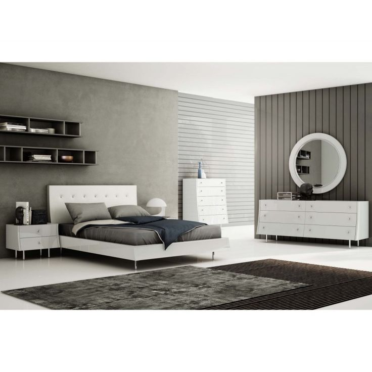 Superior White Queen Bed https://www.studio9furniture.com/bedroom/headboards-and-frames/concavo-queen-bed  This modish queen bed frame features a white faux leather headboard with crystal buttons making it more elegant.