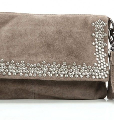 Cowboysbag Bag Dyce Clutch Leder taupe