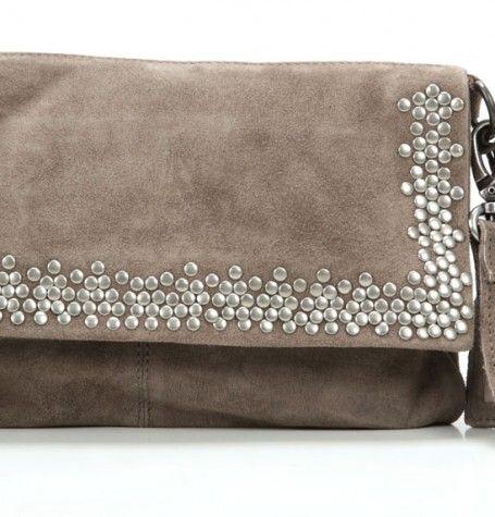 Cowboysbag Bag Dyce Clutch Leder taupe