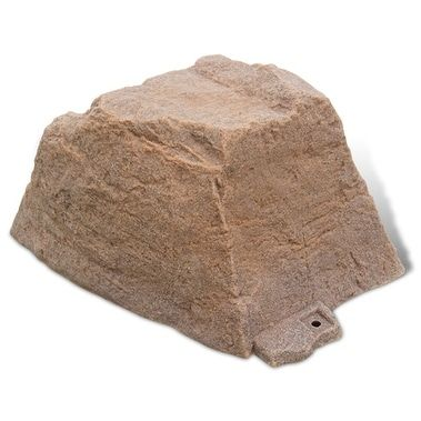 DekoRRa Small Artificial Rock Cover for Outlets & Septic Cleanouts (autumn bluff) (Polyresin), Outdoor Décor