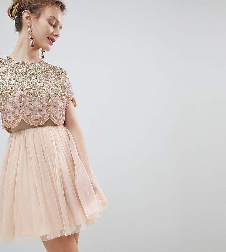 Asos Petite Asos Design Petite Heavily Embellished Tulle Mini Prom Dress Petite Prom Dress Asos Petite Dresses Mini Prom Dresses