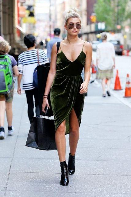 vestidos de terciopelo street style 6