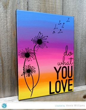 Silhouette America Blog | Do What You Love Canvas | Free Shape of the Week