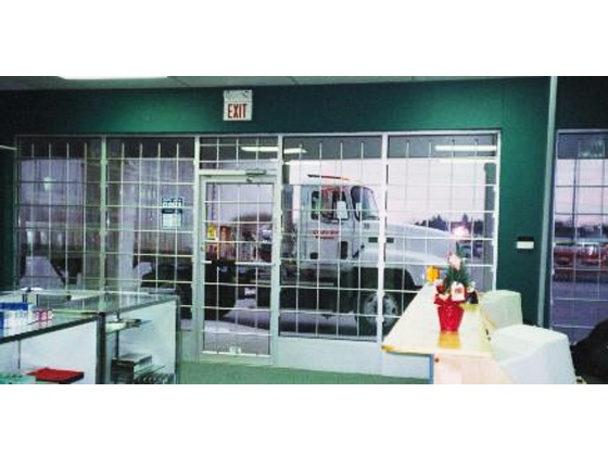 Storefront Window And Door Security Bars Made Of
