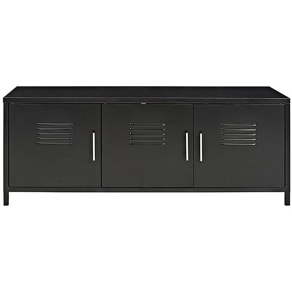 Black Metal Locker Storage Bench (€190) ❤ liked on Polyvore featuring home, furniture, door locker, storage shelving, storage locker, industrial furniture and black storage shelves