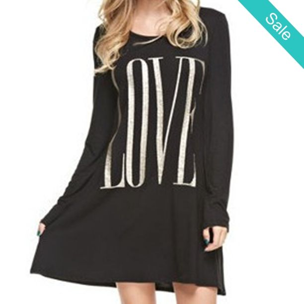 Love T-Shirt Dress -  Love T-Shirt Dress Adorable sassy, comfy and fresh model's…