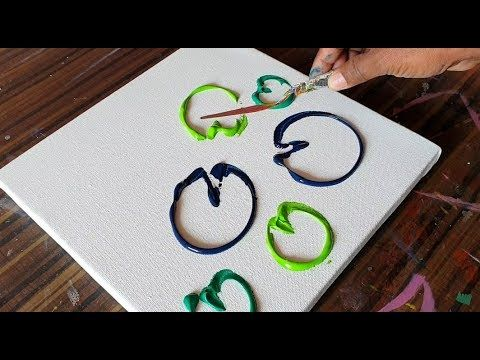 Water Lillies / Abstract Painting Demonstration / Easy & Satisfying / Project 365 days / Day No. 0332 – YouTube