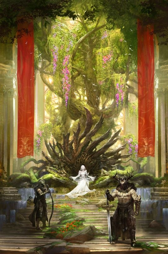 Inspirational Art - Exalted 3e Edition - Onyx Path Forums Alacrita's Throne room and heart of The Great White Trees.