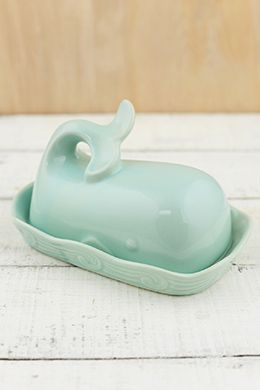 How adorable is this! It's listed as a butter dish but I could find a lot of fun ways to use it don't involve butter.