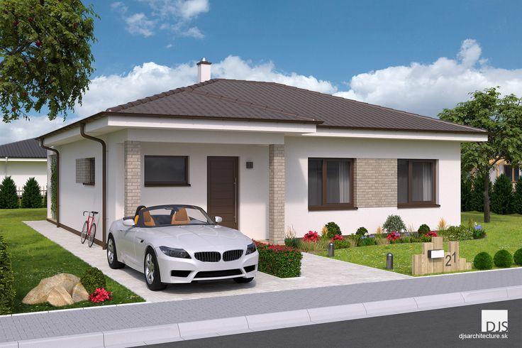 Projekt domu - O87 - Pohľad z ulice