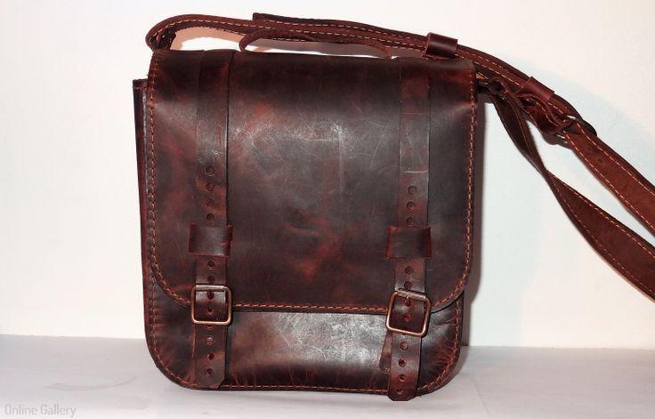 geanta barbati piele #handmade #leather #bag