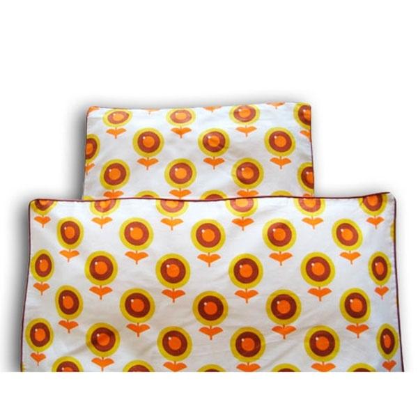 Baby sengetøj - Gul blomst - 70x100 cm - Køb hos TekstilLaden.dk