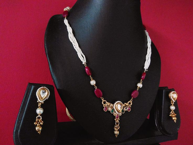 indian Designer Kundan meena  gold Plated american d Indian Jewelry Necklace  #panassh