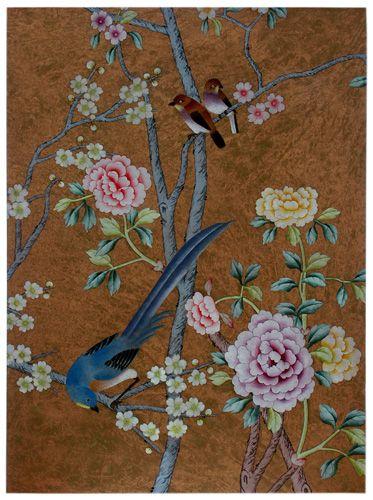 vintage chinese wallpaper | Chinese WallPaper :: Chinoiserie WallPaper :: Silk WallPaper ...