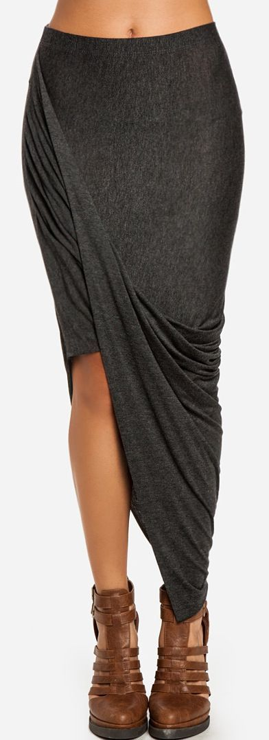 259 DailyLook: Twisted High-Low Skirt; Love this skirt!!  so me! love the design and fit...