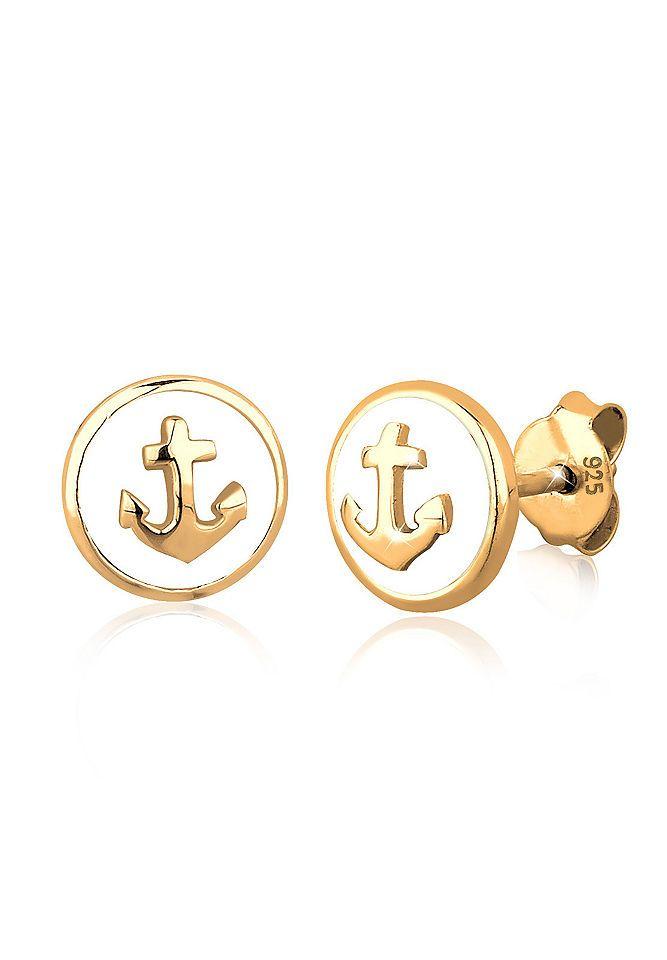 Elli Ohrringe »Anker Maritim Emaille Sailor Trend 925 Silber« Jetzt bestellen unter: https://mode.ladendirekt.de/damen/schmuck/ohrringe/ohrhaenger/?uid=61271eba-362b-57bc-8667-e41386f03de6&utm_source=pinterest&utm_medium=pin&utm_campaign=boards #schmuck #ohrhaenger #ohrringe #ohrschmuck