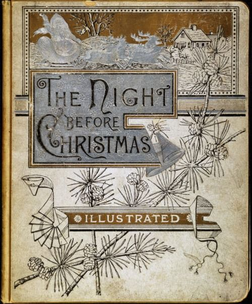 The Night Before Christmas  Book Cover: Clement Clarke Moore (1883)