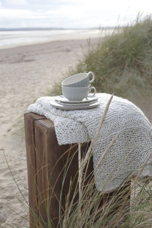 My morning coffee on the beach.  Every day.  My dream... <3