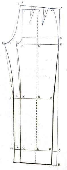 Belajar Membuat dan Menjahit Busana: Pola celana pantalon pria dan wanita