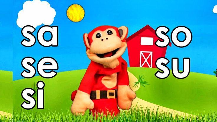 Sílabas sa se si so su - El Mono Sílabo - Videos Infantiles - Educación ...