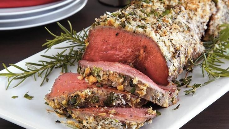 Enjoy your dinner with this aromatic beef tenderloin coated with Progresso® bread crumbs and herbs.
