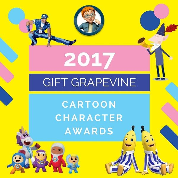 Gift Grapevine blog post: Real life TV actors have the Logies, Emmy Awards and Oscars. What if our favourite TV cartoon characters had their own awards show? Who would be nominated? Who would win? And would Sportacus ditch his lyrca blue get-up and don a tuxedo for the occasion?