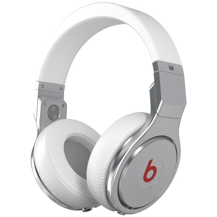 Monster Beats Pro High-performance Headphones.  White Monster Beats Pro High-performance Headphones - Lightweight & Durable Aluminum Frame, Proprietary Drivers, Adjustable, Padded Headband, Thick Removable & Washable Cushions, Flip-up Ear Cups.  Order Now From Mostly Gifts.