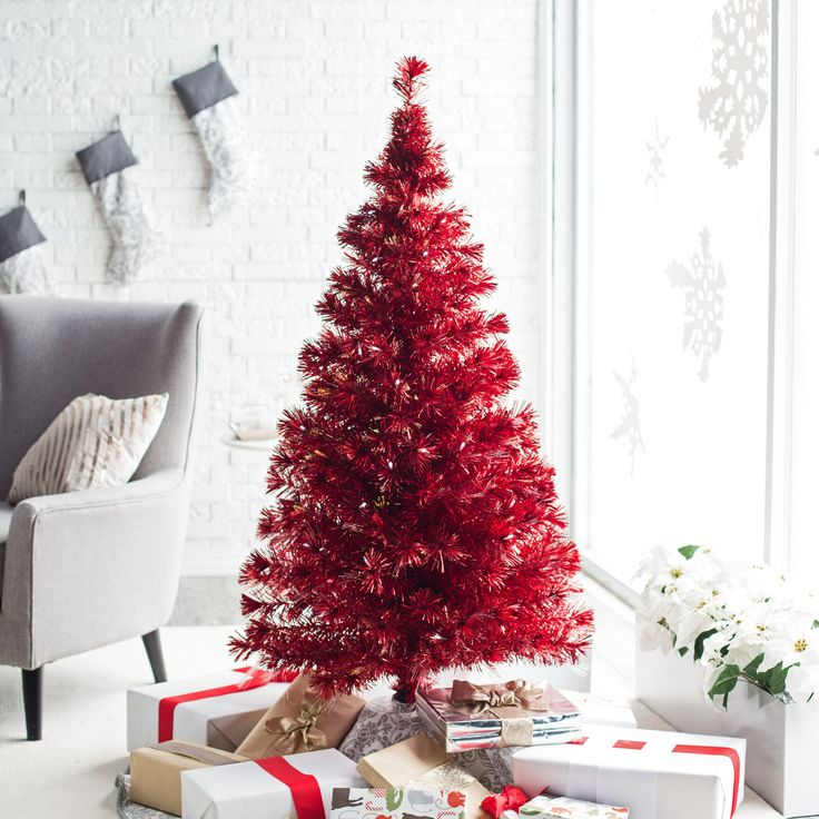 Red Christmas Tree For Sale