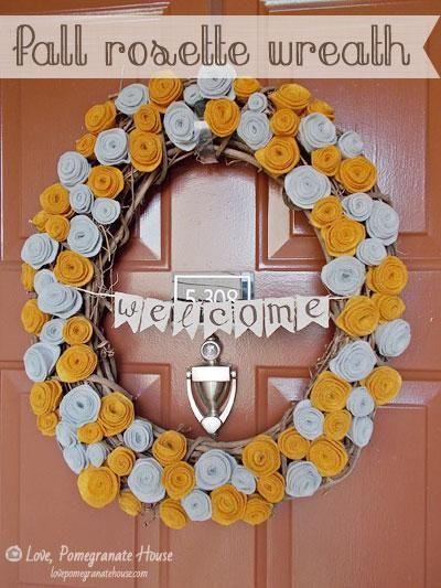 DIY Fall Rosette Wreath Cuteness!!