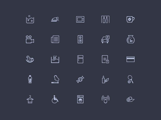 Amenities - 50 misc PSD icons