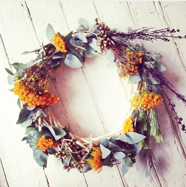 Australian Native Christmas wreath by jasmine flowers