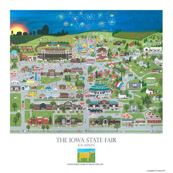 Iowa State Fair Poster Unframed Des Moines In 2020 Iowa State